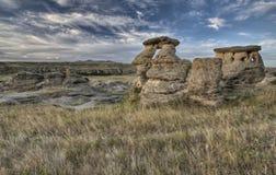 Badlands Alberta Canadá del Hoodoo fotografía de archivo