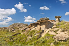 Badlands in Alberta, Canada Stock Images