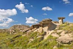 Badlands in Alberta, Canada Stock Images