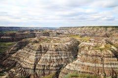 Badlands Alberta Canada. Badlands near Drumheller in Alberta, Canada Stock Photos