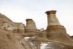 Badlands Alberta  hoo doo Stock Photos