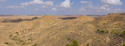 Badlands, arid landscape in Matmata. Tunisia Royalty Free Stock Image