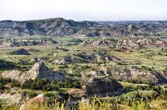 Badlands av North Dakota royaltyfria foton