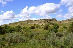 Badlands av North Dakota royaltyfri foto