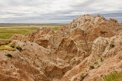 Badlands av South Dakota royaltyfria bilder