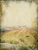 Badlands Background. Grunge background of Badlands scenery with room for text Stock Photography