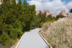 Badlands Boardwalk Stock Photos