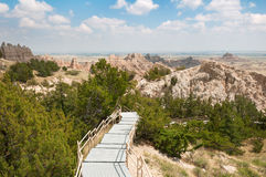 Badlands Boardwalk Royalty Free Stock Images