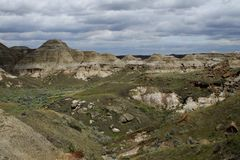 Badlands in Canada Royalty Free Stock Images