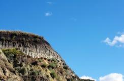 Badlands canyon near Drumheller with sky stock photo