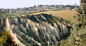 Badlands in Chieti province (Italy) Stock Photos