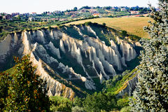 Badlands in Chieti province (Italy) Royalty Free Stock Images