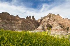 Badlands, Dakota del Sur imágenes de archivo libres de regalías