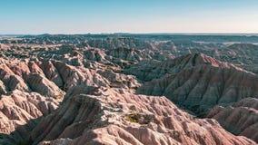 badlands Dakota park narodowy południe obraz royalty free