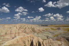 badlands Dakota park narodowy południe obrazy stock