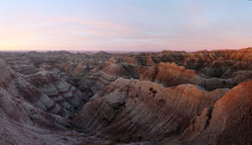 Badlands at dawn royalty free stock photography