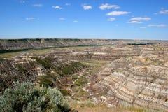 Badlands de Alberta Foto de archivo libre de regalías