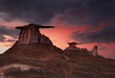 Badlands de Bisti, New México, los E.E.U.U. Fotos de archivo libres de regalías