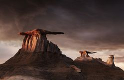 Badlands de Bisti, New México, los E.E.U.U. Fotografía de archivo
