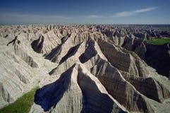 Badlands de Dakota del Sur, aéreos Fotos de archivo libres de regalías