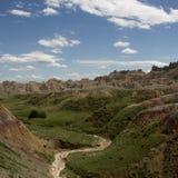 Badlands de Dakota del Sur, los E.E.U.U. Foto de archivo