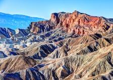Badlands de Death Valley Imágenes de archivo libres de regalías