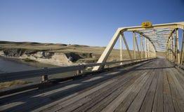 Badlands de Milk River Alberta Fotografía de archivo