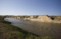 Badlands de Milk River Alberta Imagenes de archivo