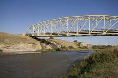 Badlands de Milk River Alberta Fotografía de archivo libre de regalías