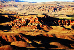 Badlands de Wyoming occidental Fotos de archivo