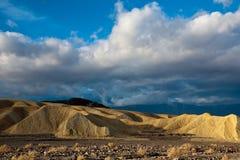 badlands Death Valley Royaltyfri Foto
