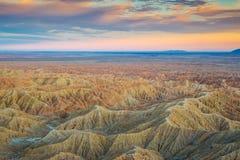 Badlands del desierto de Sonoran Imágenes de archivo libres de regalías