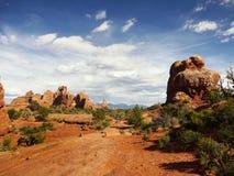 Badlands del paisaje del desierto de los acantilados de las malas sombras Fotografía de archivo libre de regalías