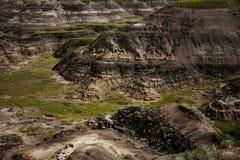 Badlands dichtbij Drumheller Stock Foto's