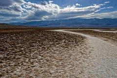 Badlands, Doodsvallei, het landschap van Californië stock afbeelding