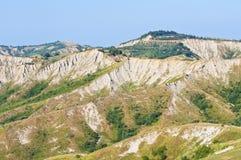 Badlands. Emilia-Romagna. Italië. Royalty-vrije Stock Foto's