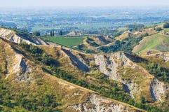 Badlands. Emilia-Romagna. Italy. Royalty Free Stock Images