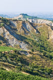 Badlands. Emilia-Romagna. Italy. Stock Image