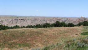 Badlands enérgicos de Dakota del Sur, Estados Unidos almacen de metraje de vídeo
