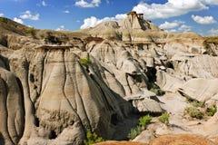 Badlands en Alberta, Canadá Fotos de archivo libres de regalías