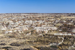 Badlands en el parque provincial del dinosaurio Imagenes de archivo