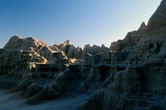 Badlands en la tarde. imagen de archivo