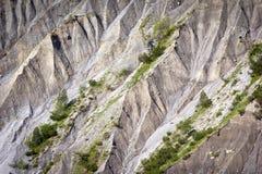 Badlands en las montañas europeas Fotos de archivo