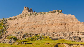 Badlands Escarpment in the Summer Stock Images