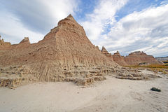 Badlands Escarpments Against Changing Skies Royalty Free Stock Images