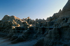 Badlands at evening. Stock Image
