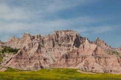 Badlands góry formacje Zdjęcia Royalty Free