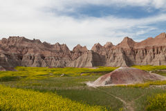 Badlands góry formacje Fotografia Stock