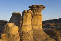 Badlands geological rock formation Stock Photo