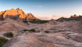 Badlands Glow Stock Photo